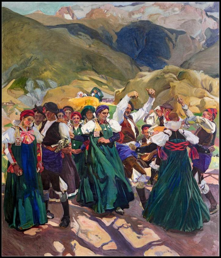 Cuadro de La Jota (1914), Joaquín Sorolla, imagen de dominio público extraida de wikimedia commons